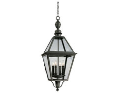 """Country - Cottage Townsend 34"""" High Outdoor Hanging Light traditional-outdoor-lighting"""