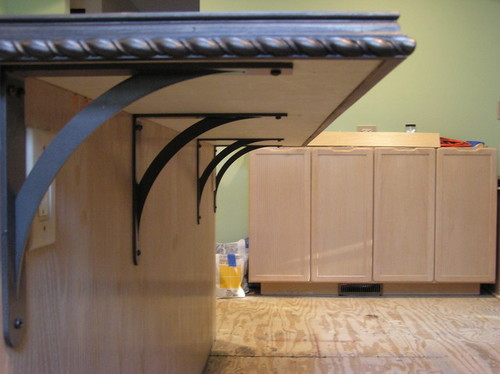Supporting a granite overhang How to support granite overhang