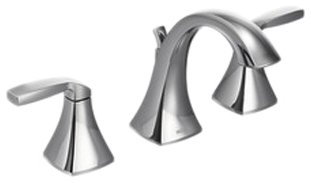 Moen T6905 Voss Series Two Handle Lavatory Faucet Chrome Modern Bathroom Faucets And Showerheads