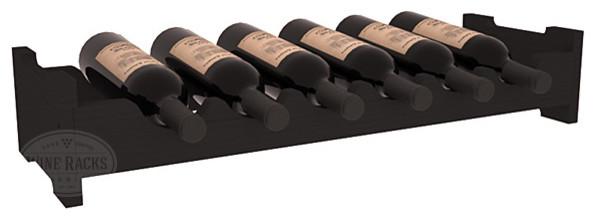 6 Bottle Mini Scalloped Wine Rack in Pine, Black contemporary-wine-racks