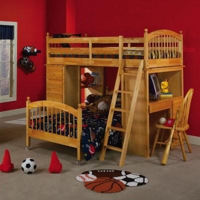 Falmouth Loft Bunk Bed modern-beds