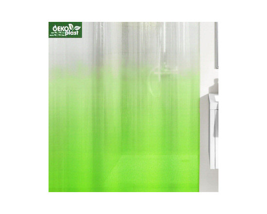 Shadow Shower Curtain from Vita Futura - The jewel tone color options of our Shadow shower curtain design are beautiful. The colors are rich and bold at the bottom of the curtain and fade to clear towards the top.