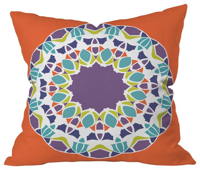 Karen Harris Mod Medallion Mulberry Throw Pillow, 18x18x5 contemporary-decorative-pillows