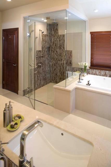 modern shower bath combination with threshold proline installation modern other metro by. Black Bedroom Furniture Sets. Home Design Ideas