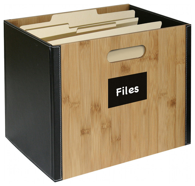 Bamboo Storage Collection File Box - Contemporary - Filing Cabinets - by Great Useful Stuff
