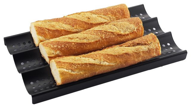 3 Loaf Nonstick Perforated Baguette French Bread Pan