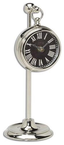 Uttermost Pocket Watch Nickel Marchant Black modern-clocks