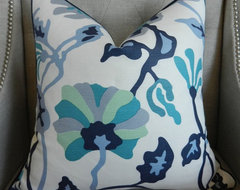 Made To Order Alan Campbell for Quadrille Potalla Pillow Cover By Elegant Touch contemporary-decorative-pillows