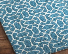 Outdoor or Indoor Summer Trellis Hooked Rug modern-rugs
