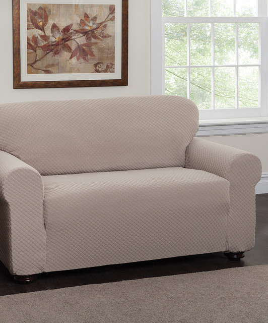 Natural Dots Stretch Sofa Slipcover Modern Sofas