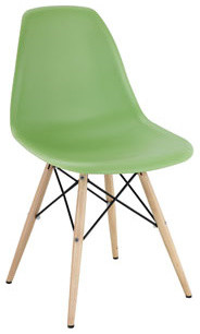 Pyramid Dining Side Chair in Light Green modern-dining-chairs