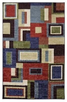 Area Rug: Multi Frame 5' x 8' contemporary-rugs