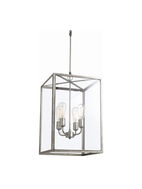 Arteriors Savannah 4 Light Aged Iron/Glass Pendant - Arteriors Savannah 4 Light Aged Iron/Glass Pendant