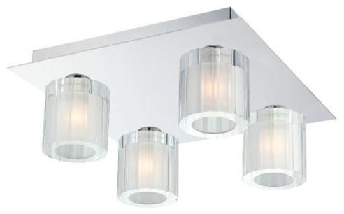 Tiara 4-Light Flushmount contemporary-ceiling-lighting