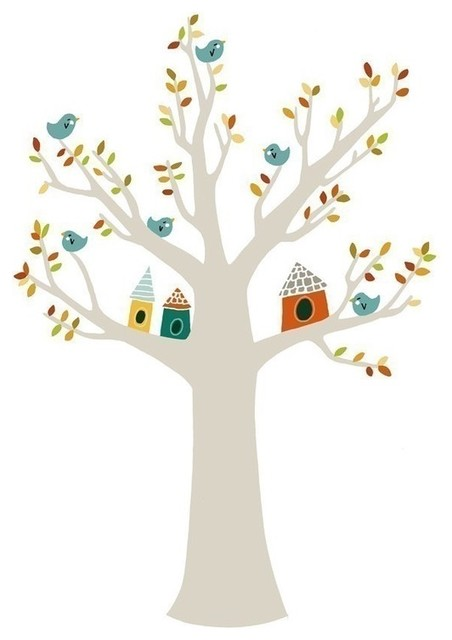 A Home in the Branches by Amy Blackwell contemporary-prints-and-posters