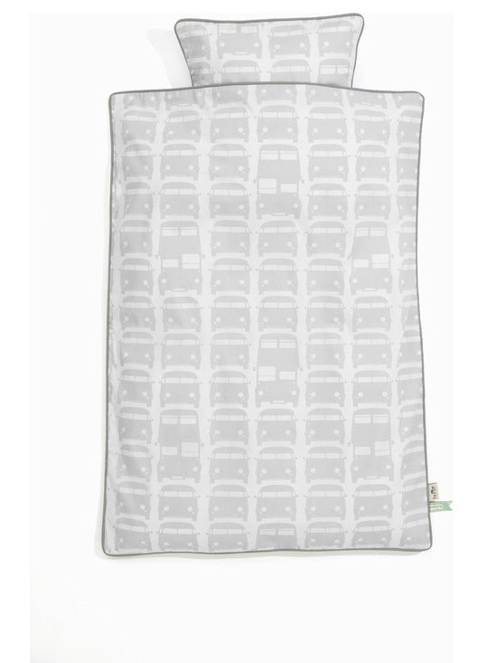 Ferm Living Rush Hour Organic Baby Bedding - Grey - Ferm Living Rush Hour Organic Baby Bedding - Grey