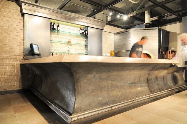 Timo's concrete wine bar contemporary-kitchen-countertops