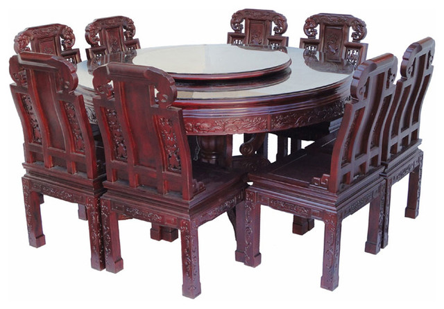 Chinese Round Dining Table 8 Chairs