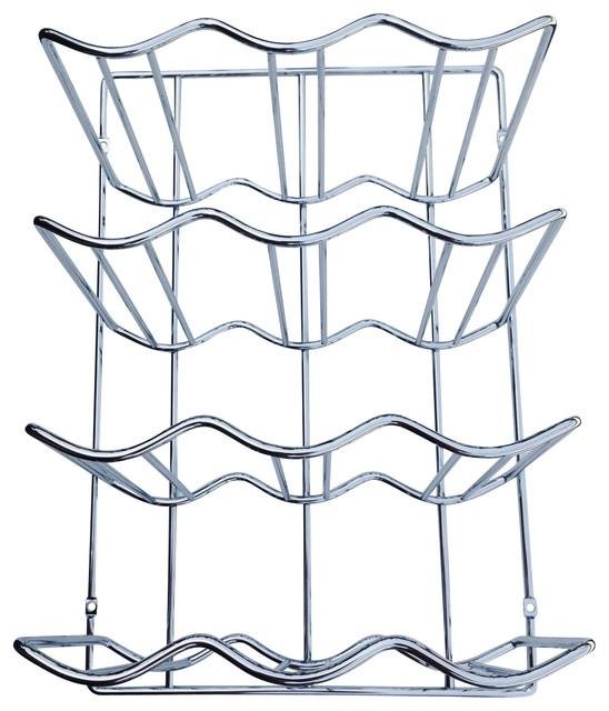 Under Cabinet Wall Mount Wine Rack, Chrome - Contemporary - Wine Racks - by Cabinet Organizers