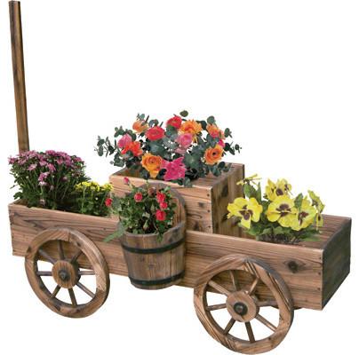 Garden Wagon Planters - Outdoor Pots And Planters - hong ...