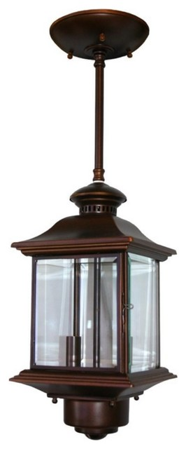 Ceiling Light With Built In Motion Sensor : Country cottage motion sensor quot high antique bronze
