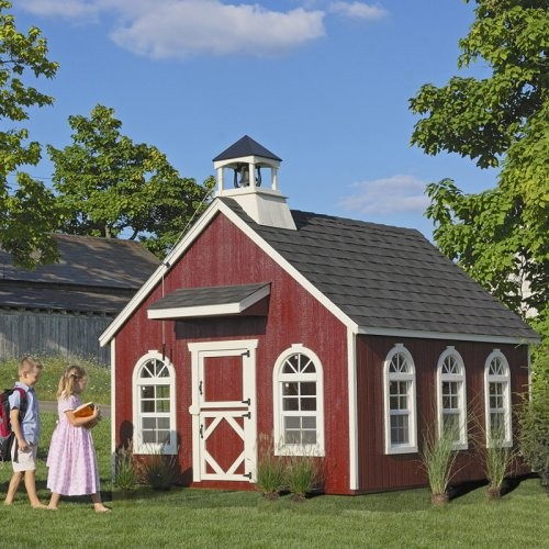 Little Cottage 8 x 10 Stratford Schoolhouse Wood Playhouse contemporary-outdoor-playhouses
