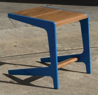 "Rian RTA 17"" Stool modern-outdoor-benches"