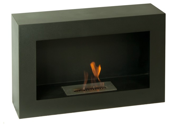 "Ignis Spectrum 32"" x 20"" Freestanding Ventless Ethanol Fireplace FSF-011 modern-bath-products"