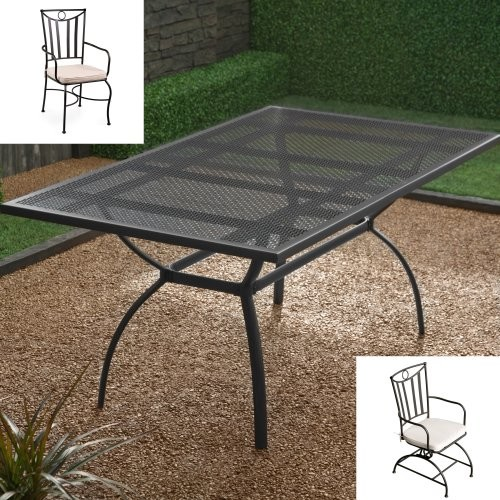 Maya Deluxe Dining Set - Seats 6 contemporary-outdoor-dining-tables