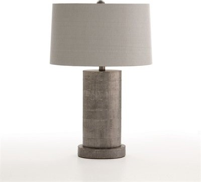 Arteriors Home Sona Oval Studded Zinc Table Lamp contemporary table lamps