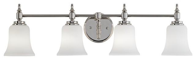 "Darcy 31"" Wide Polished Nickel Bath Light contemporary-bathroom-vanity-lighting"