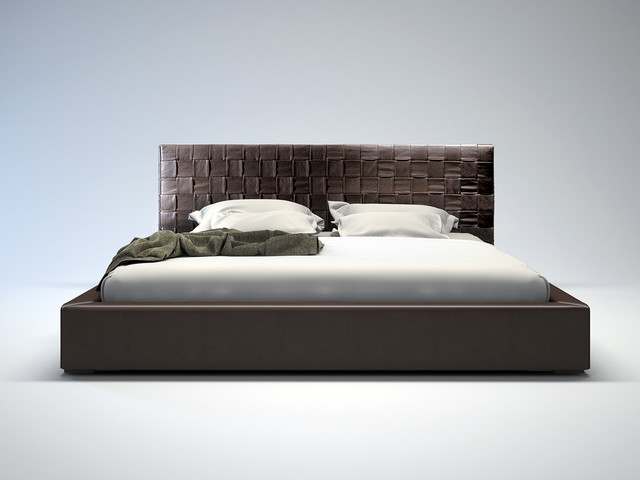Madison modern bed modern beds san diego by real deal furniture mattress - Modern bed ...
