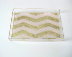 Limited Edition Petite Lucite Tray by Tilly Maison modern serveware
