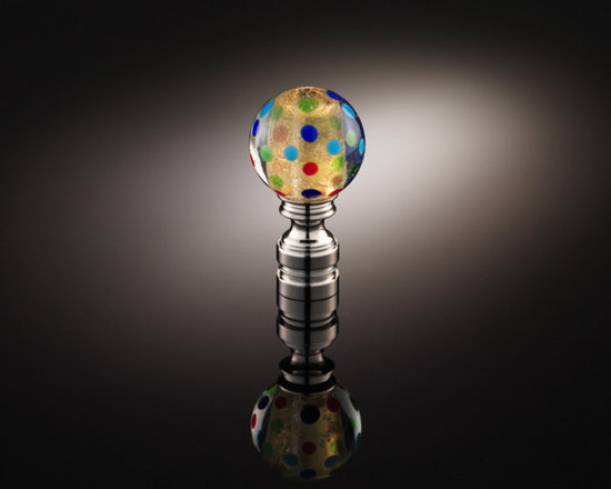Lamp Finial Collection TLF005 - Handmade glass lamp finial