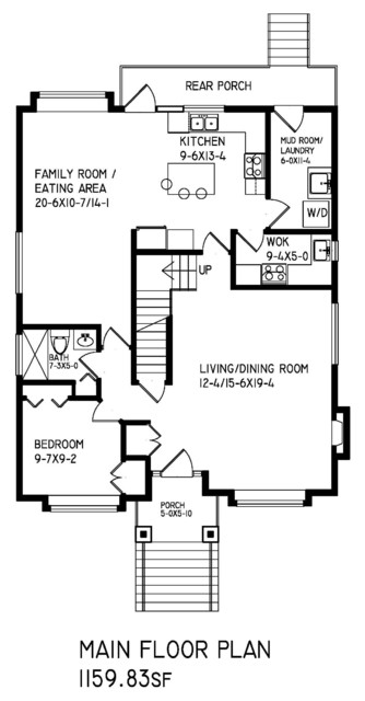 Two storey home in Vancouver East End traditional-floor-plan