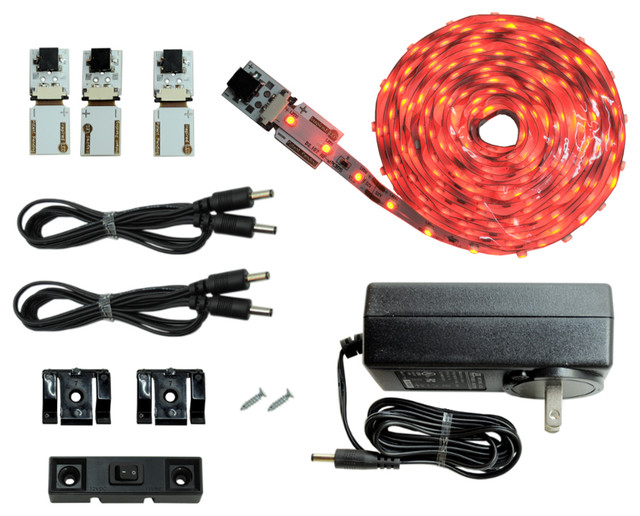 NEW Cut and Connect Series: Super Bright Flexible Strip 3M Kit in Red - Undercabinet Lighting ...