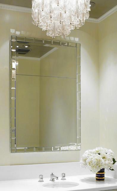 Kim Powder Room Mirror Modern Wall Mirrors Phoenix