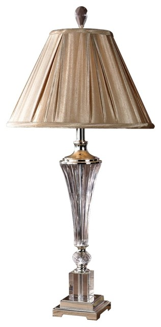 Crystal Uttermost Celia Crystal Fluted Glass Table Lamp traditional table lamps
