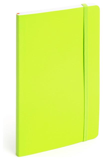 Soft Cover Notebook, Lime Green, Medium modern-desk-accessories