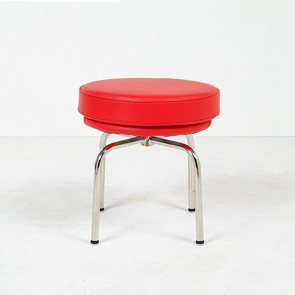 Le Corbusier: LC8 Turning Stool Reproduction modern-living-room-chairs