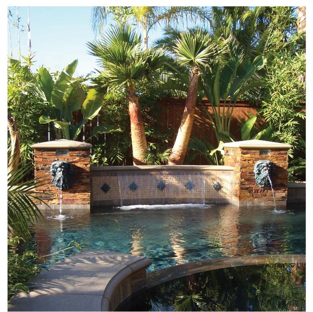 Neptune Head Pool Fountain Tampa By American Tile And