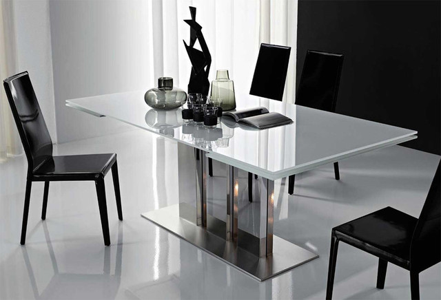 Plano extendable dining table by cattelan italia modern dining tables chicago by spacify - Modern dining table ideas ...