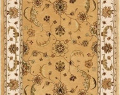 Dynamic Rugs Jewel 70113 Persian Rug - Gold/Beige traditional-rugs