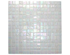 Cloud White Glimmer Glass Tile modern kitchen tile