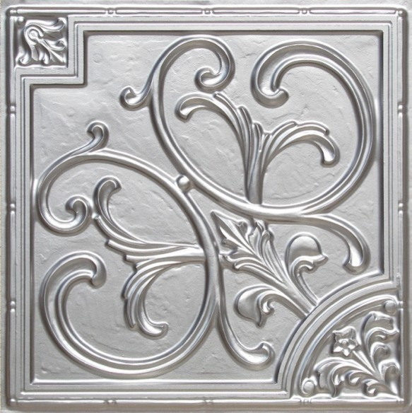 Decorative Bathroom Ceiling Tiles : Faux tin ceiling tile glue up