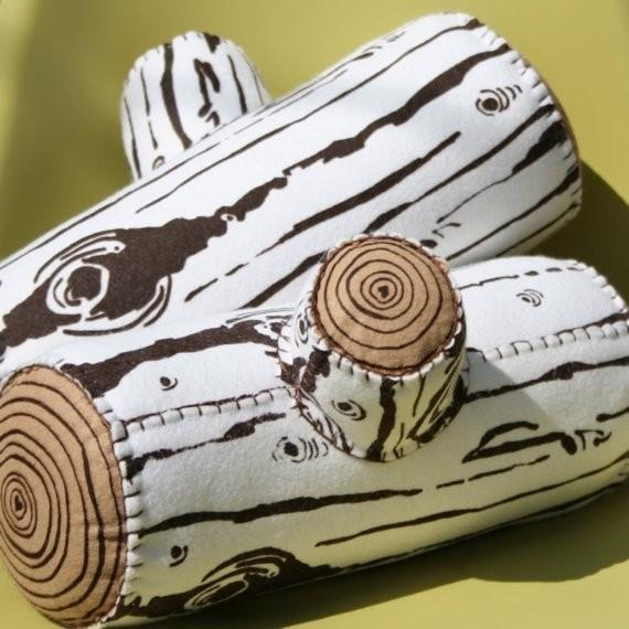 Felt logs eclectic-fireplace-accessories