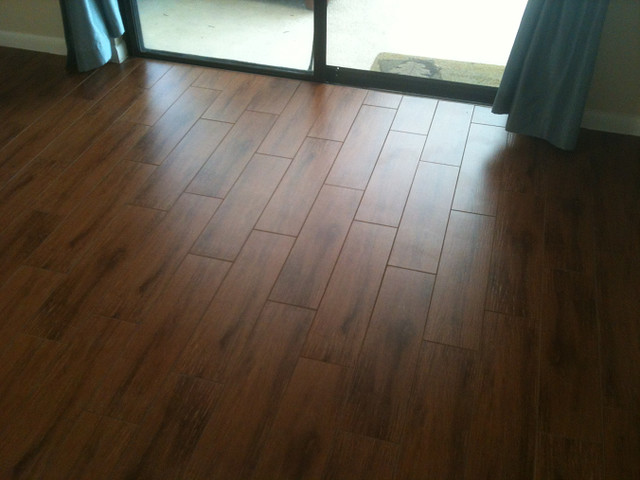 Porcelain plank wood look tile installations tampa florida tampa by ceramictec Wood porcelain tile planks