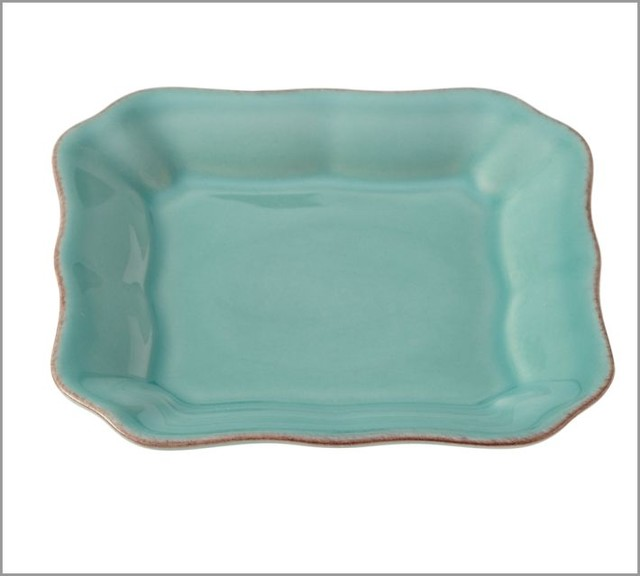 Cambria Tidbit Plate, Turquoise contemporary-dinner-plates