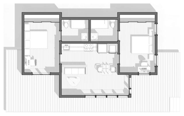 Ne Portland Adu Modern Floor Plan Portland By