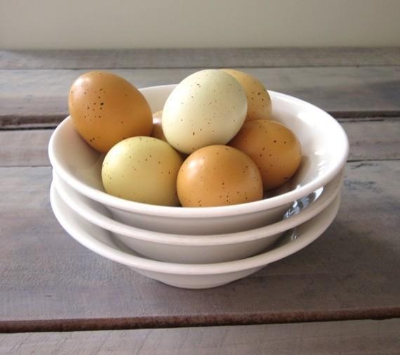 Set of Three Thick White Restaurant China Bowls by 22BayRoad traditional-dining-bowls
